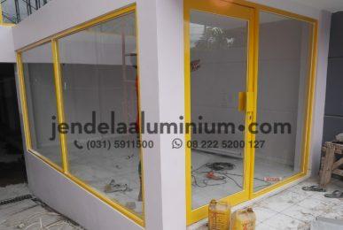 kusen aluminium coat kuning kediri pare