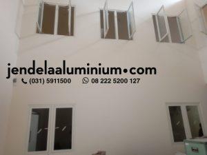 jendela aluminium cream gudang sidoarjo